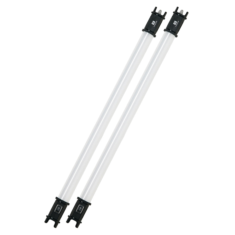 NanLite PavoTube 15C 2 ft RGBWW LED Tube with Internal Battery 2 Light Kit
