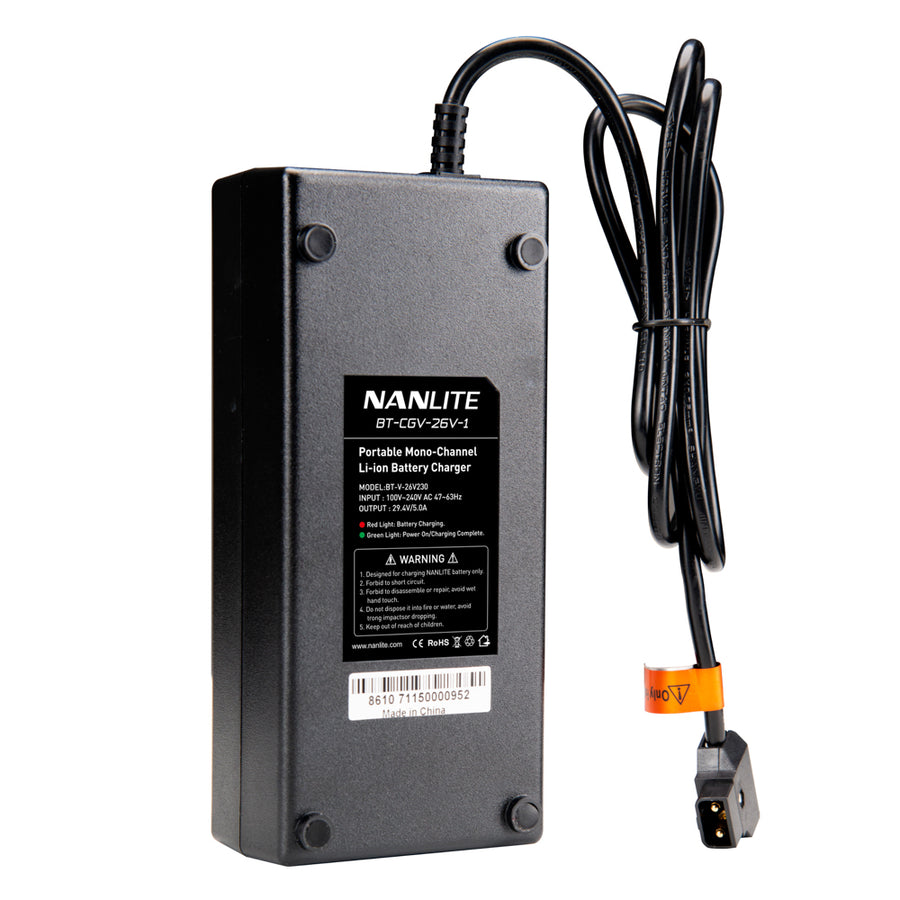 Nanlite Single 26V V-Mount Battery Charger with D-Tap Output