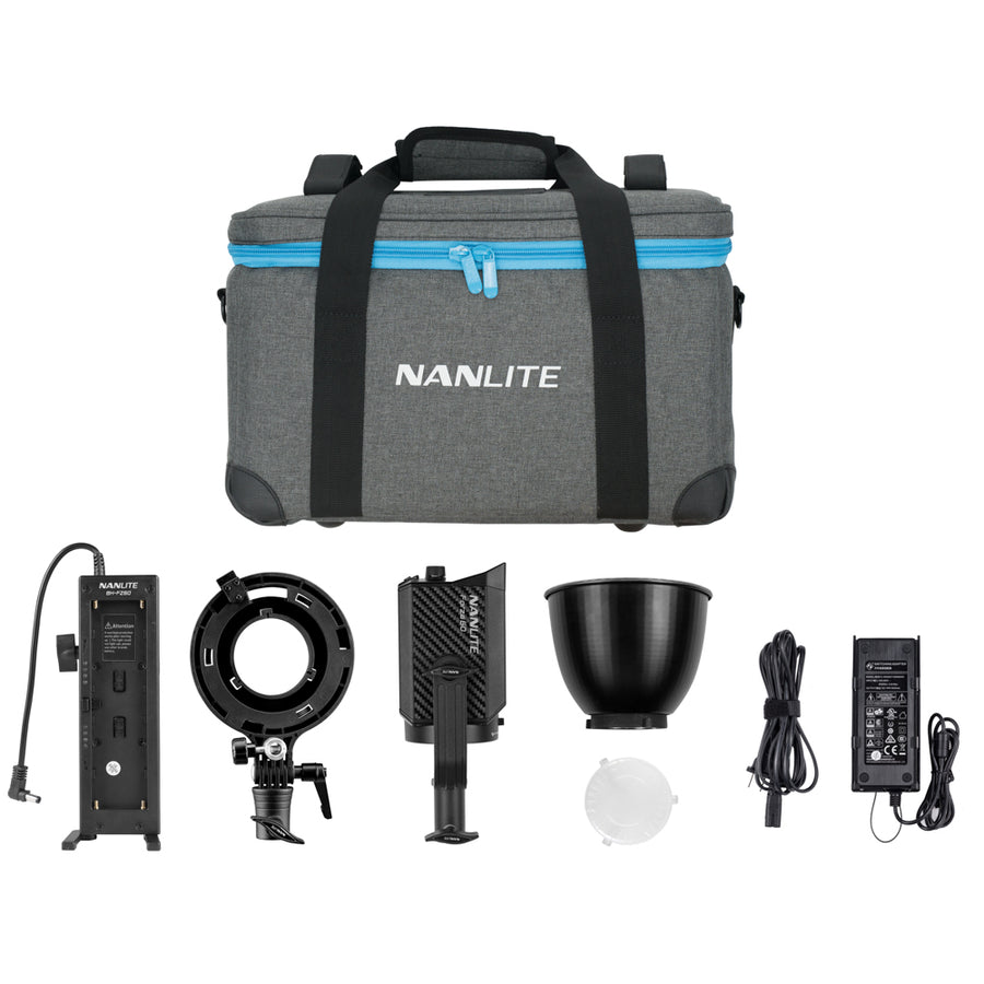 Nanlite Forza 60 LED Monolight Kit Includes NPF Battery Grip and Bowens S-Mount Adapter
