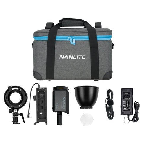 Nanlite Forza 60B Bicolor LED Monolight Kit Includes NPF Battery Grip and Bowens S-Mount Adapter