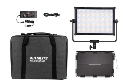 NanLite MixPanel 60 Bicolor Hard and Soft CCT and RGBWW Light Panel