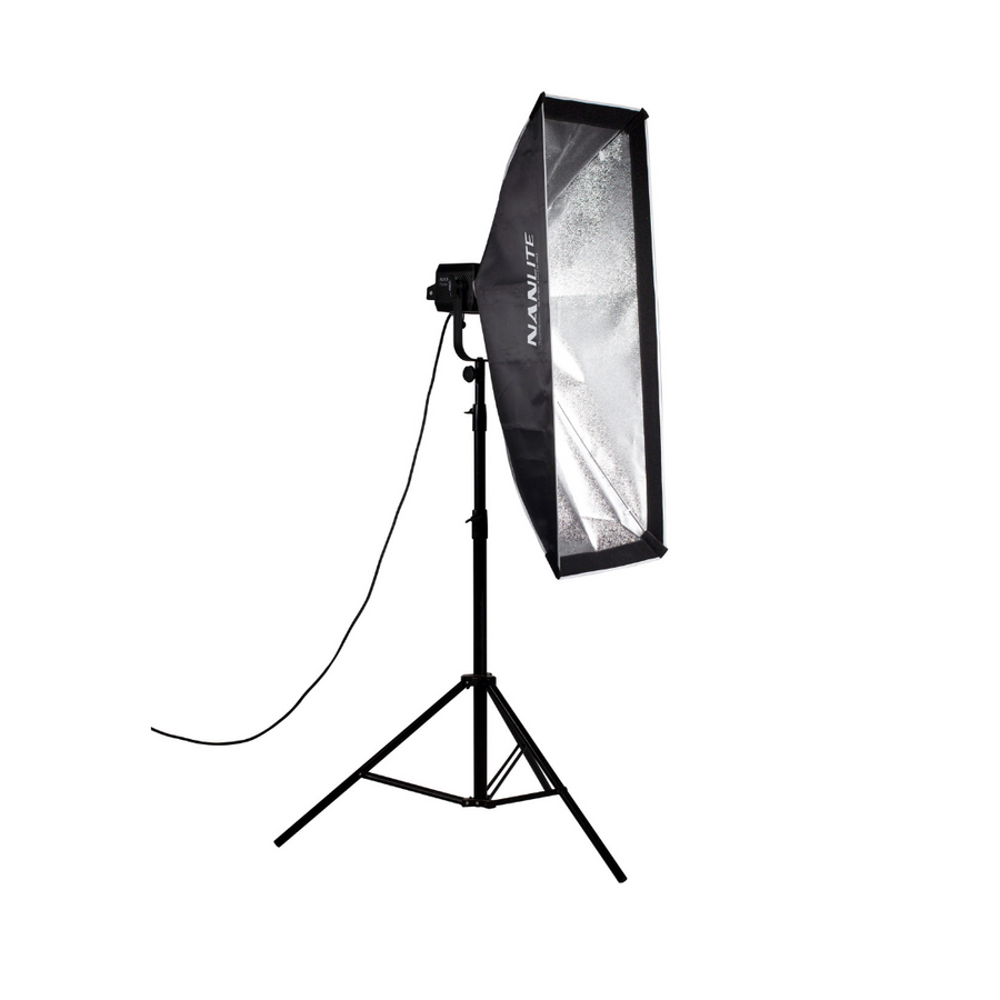 Nanlite Asymmetrical Stripbank Softbox with Bowens Mount (18x43in)