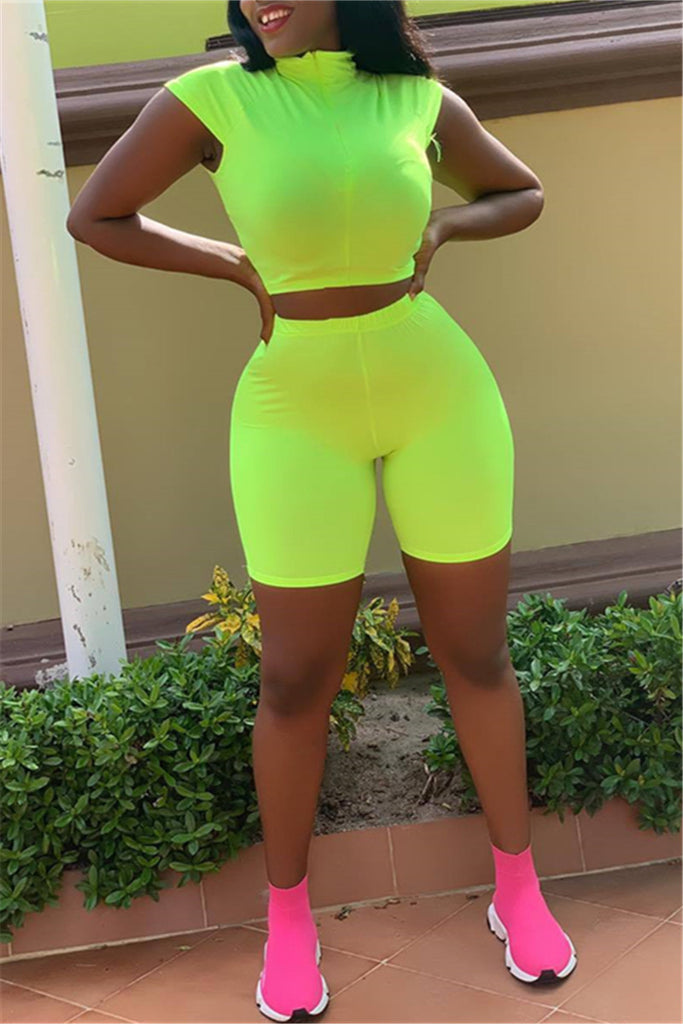 Solid Color Sleeveless Two Piece Sets