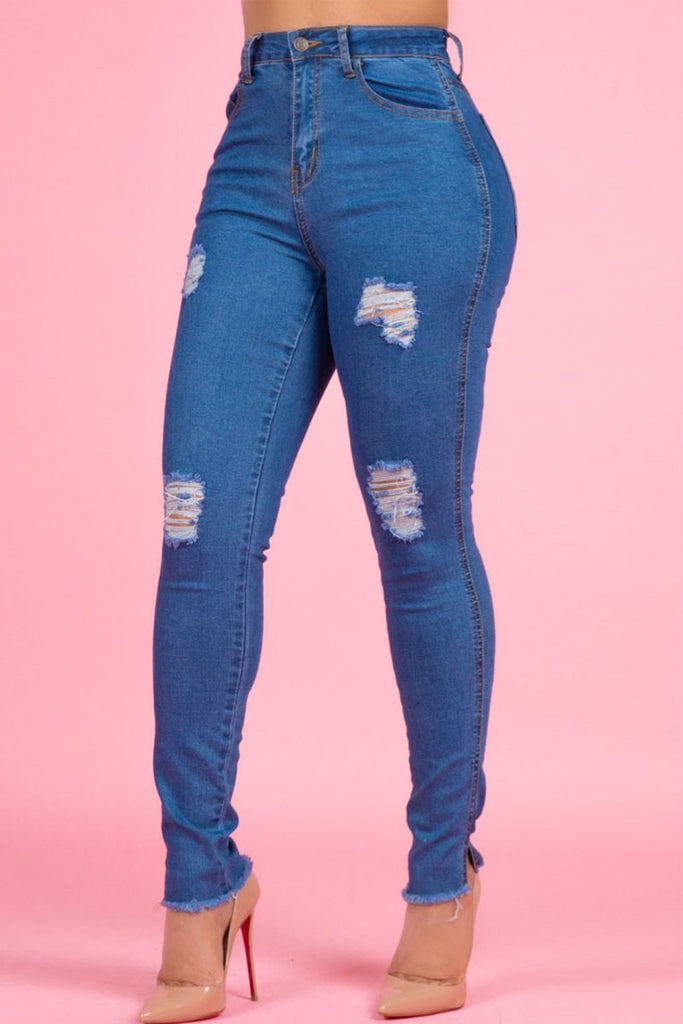 Casual Denim High Waist Stretch Pencil Jeans