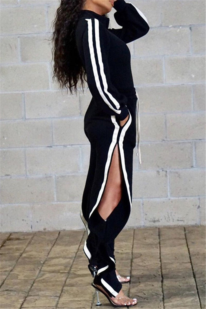 Fungus Edge Side Slit Drawstring Pants