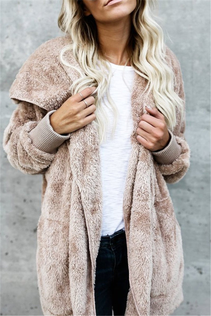 Fake Fur Fleece Jacket - MISSINLOOK