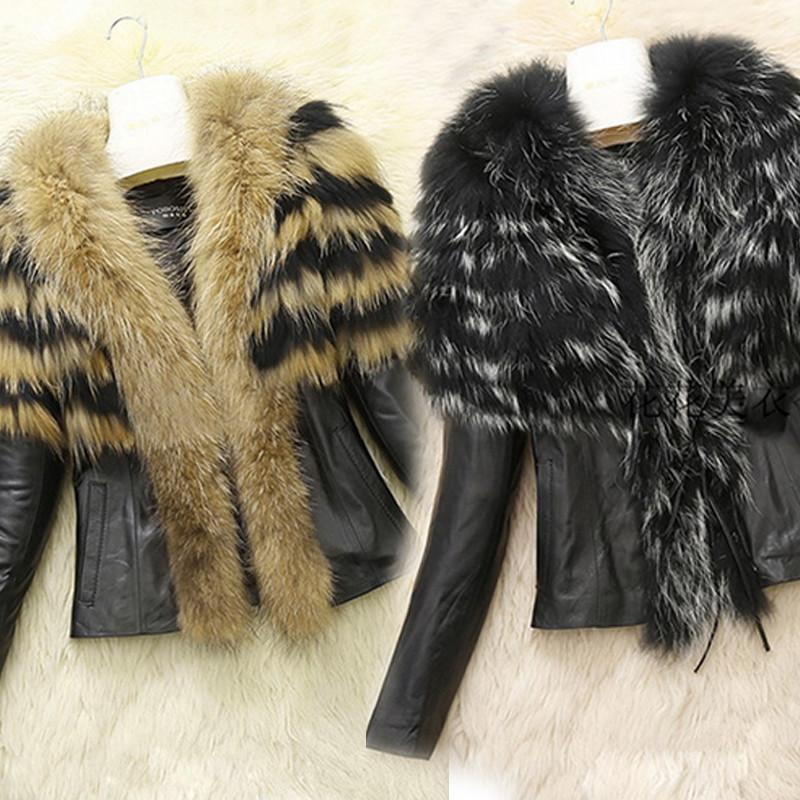 Faux Fur and Leather Jacket - MISSINLOOK