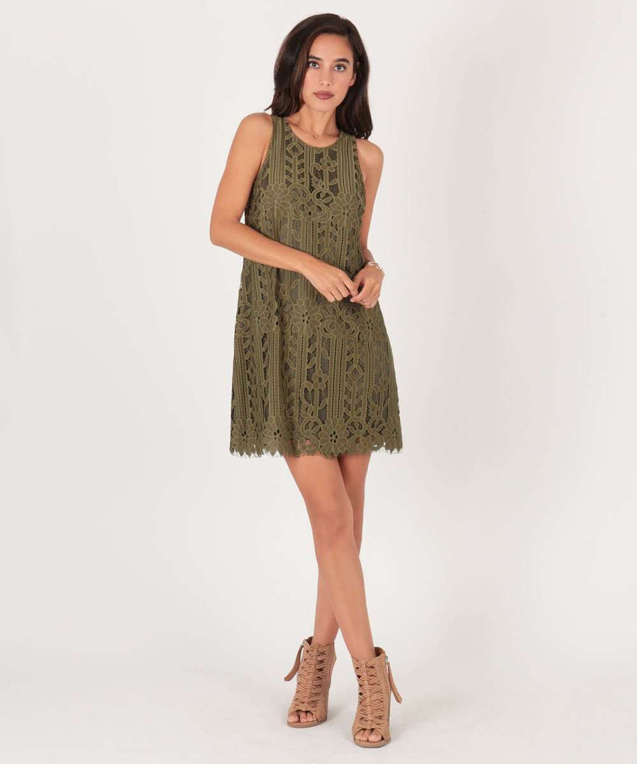Harper Swing Dress-Casual Dresses-Large-Olive-Speechless