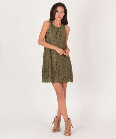 Elyse Lace Midi Dress