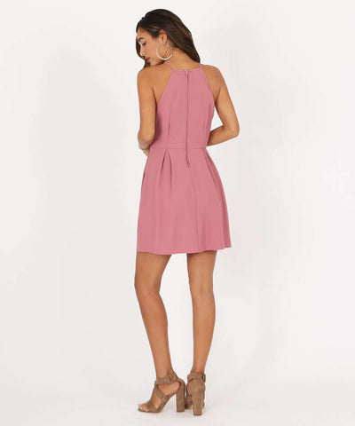 Sure Thing Skater Dress-Dressy Dresses-Large-Dark Rose-Speechless
