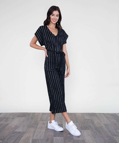 Hunter Jumpsuit-Jumpsuit-Large-Black/White-Speechless
