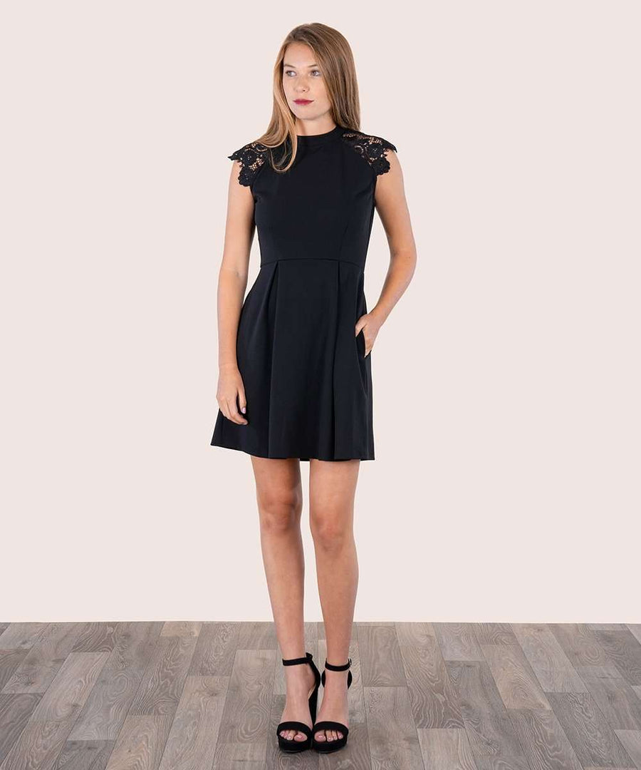 Madeline Skater Dress-Dressy Dresses-Large-Black-Speechless