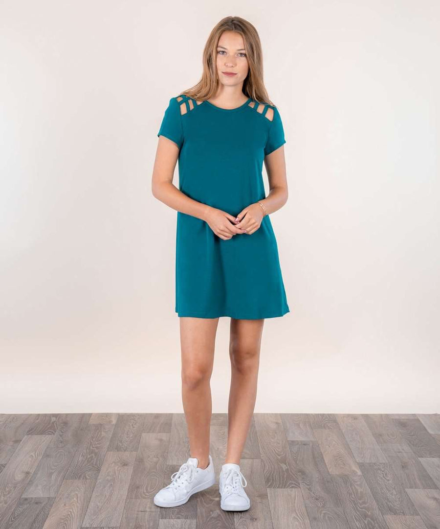 Huntington Shift Dress-Casual Dresses-Large-Jade  J-Speechless
