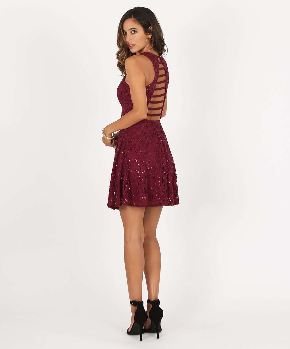 Ruby Skater Dress-Speechless