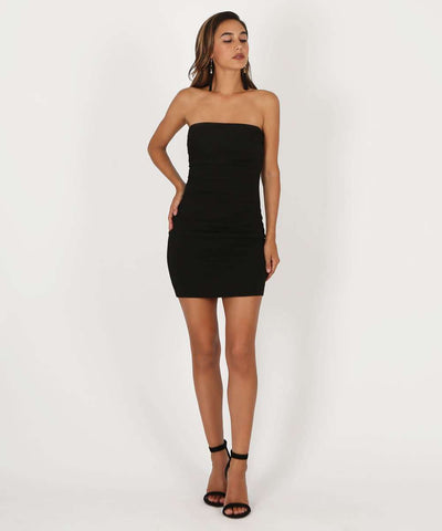 Tess Bodycon Dress-Dressy Dresses-1-Black-Speechless