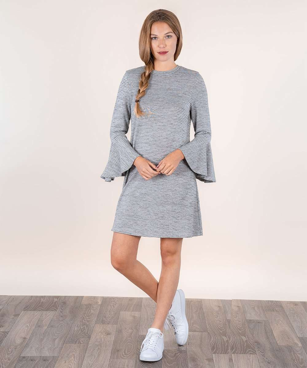 Blame It On The Bell Sleeve Knit Dress