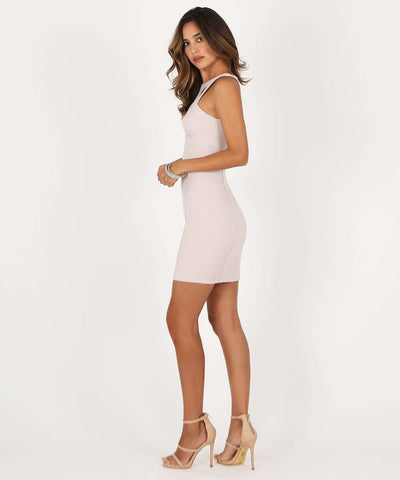 Call Me Maybe Bodycon Dress-Dressy Dresses-Large-Pale Pink-Speechless