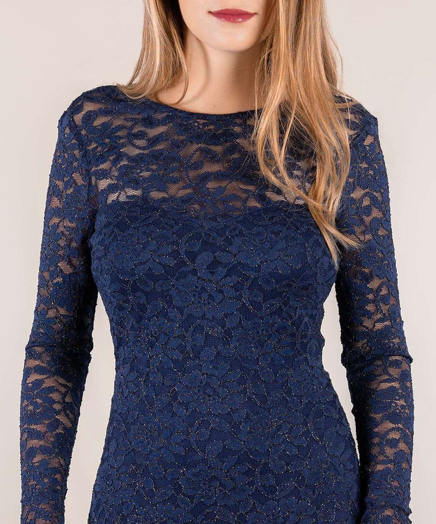 Sweet And Scalloped Lace Dress-Speechless