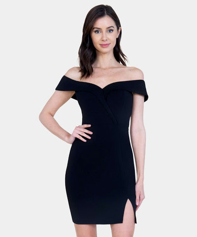 Karlie Illusion Yoke Bodycon Dress