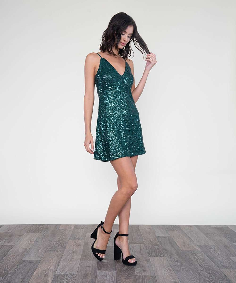 Layla Sequin Slip Dress