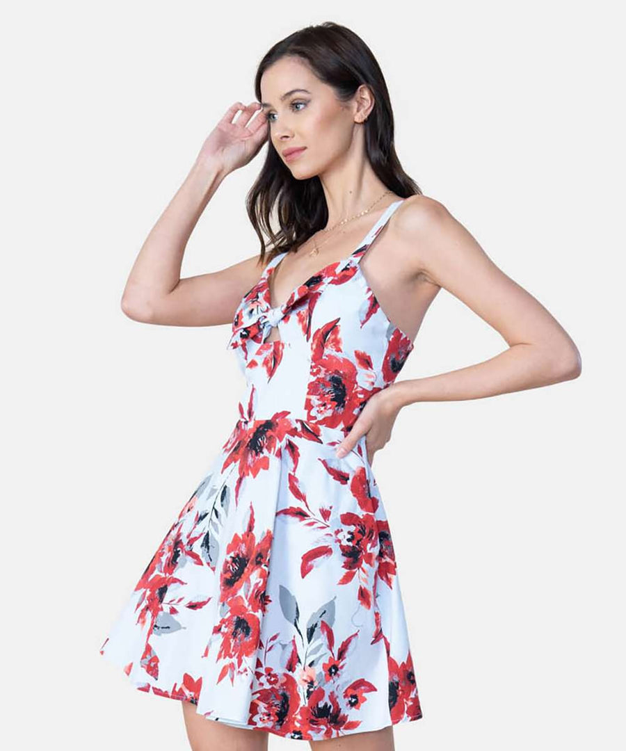 Sunny Days Knot Front Dress-Casual Dresses-Speechless