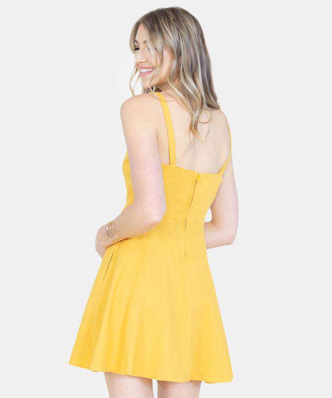 Sunny Days Knot Front Dress-Speechless