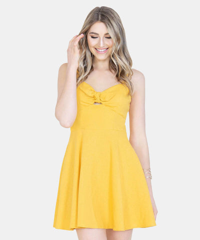 April Pom Pom Swing Dress