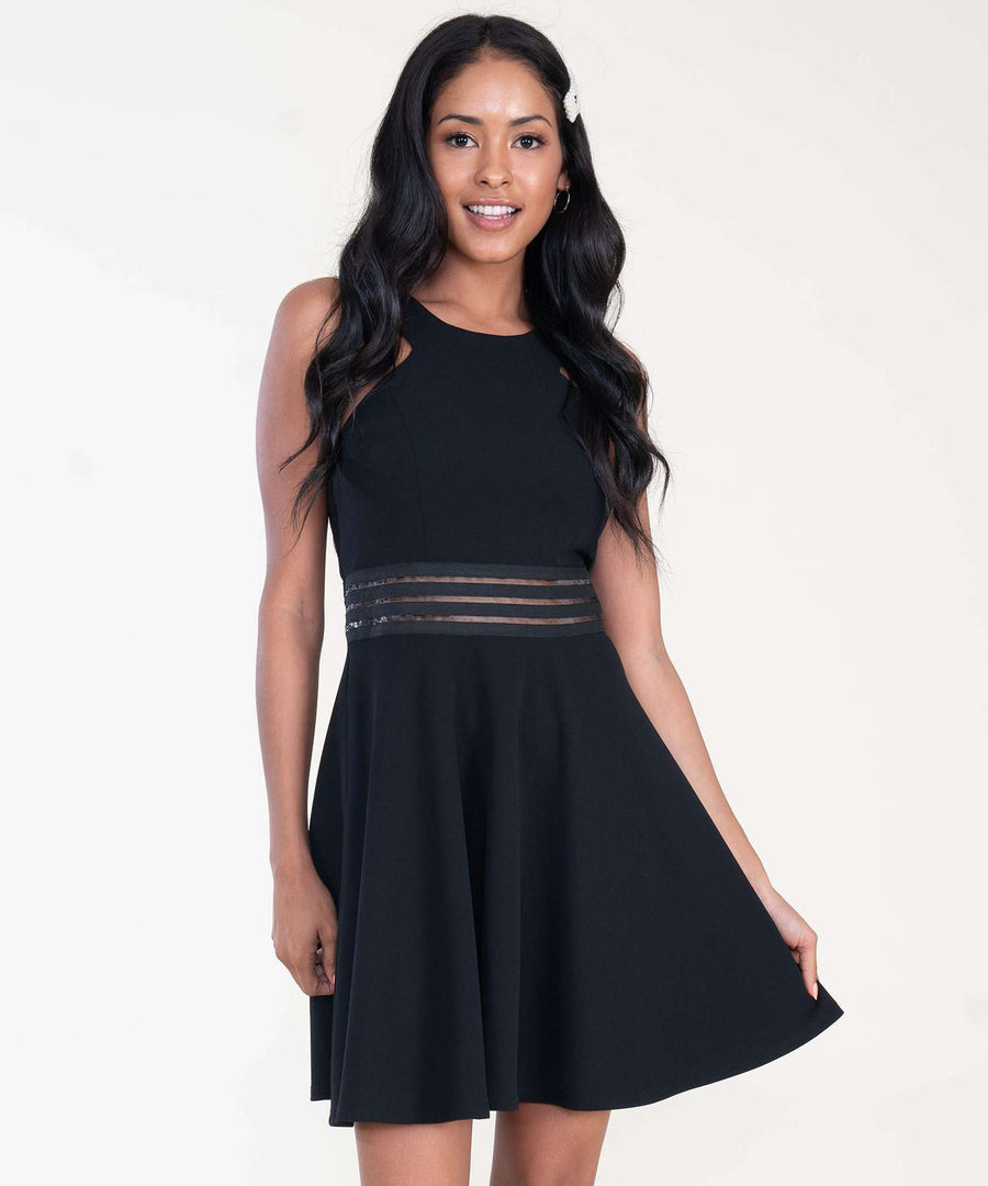 Skater Girl Dress-Dressy Dresses-XX SMALL-Black-Speechless