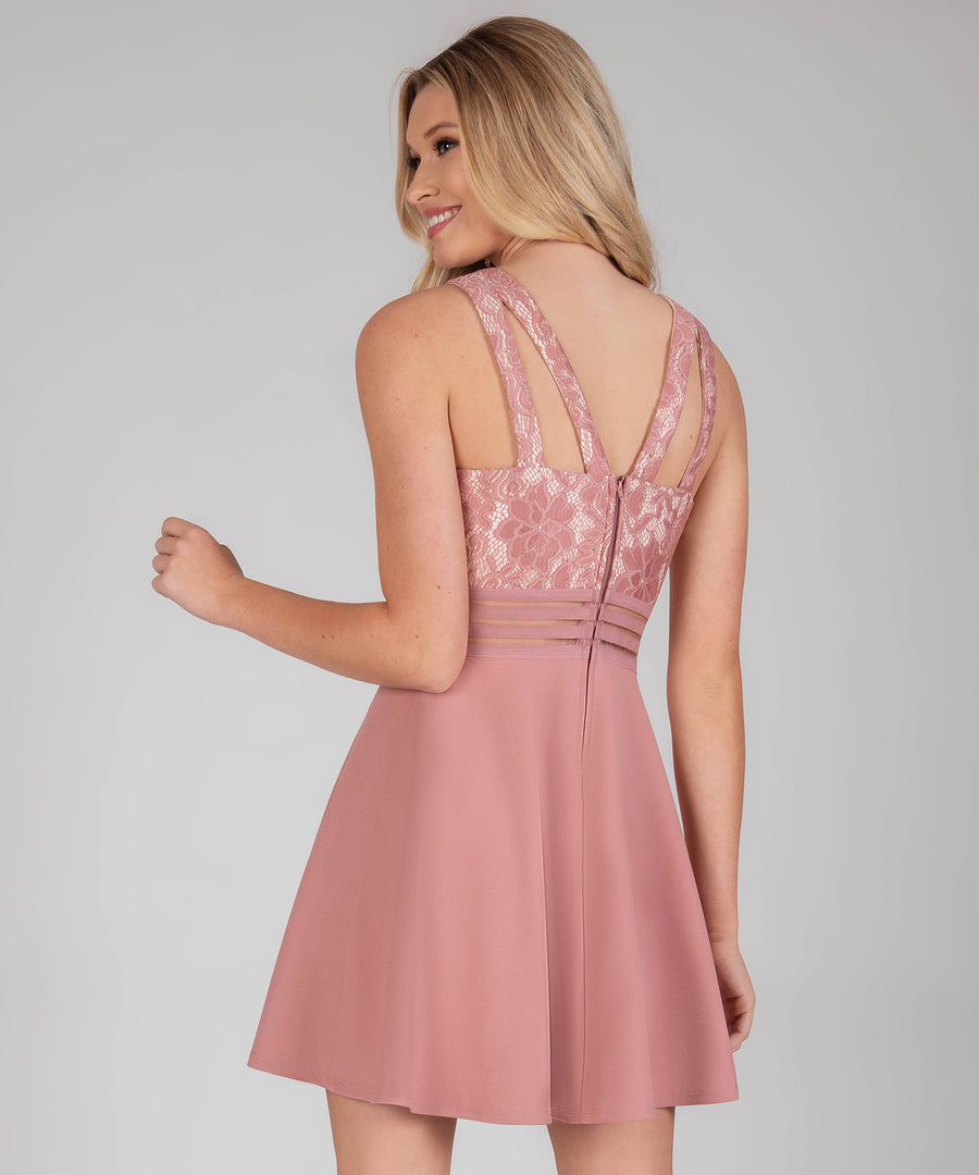 Skater Girl Dress-Nude Rose-Speechless.com