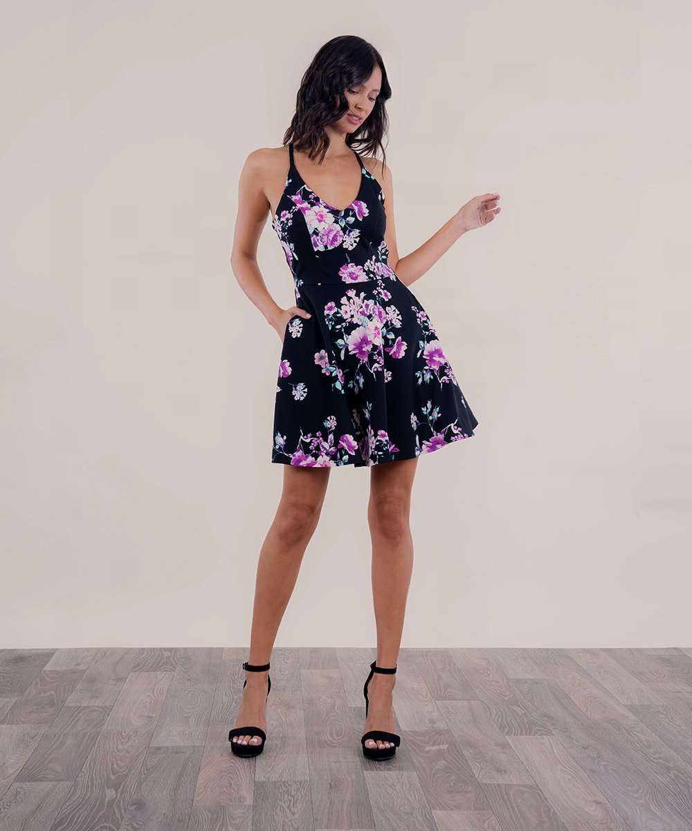 Uptown Girl Skater Dress-Speechless