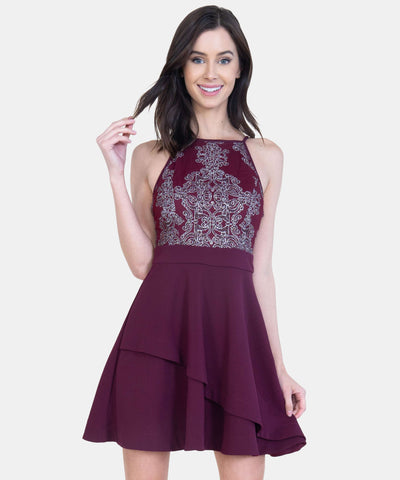 Ella Embroidered Skater Dress