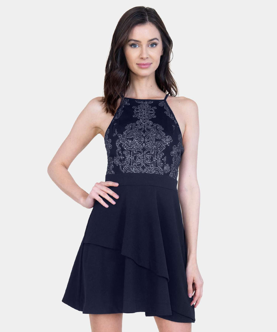 Caviar Skater Dress-Formal Dress-Speechless