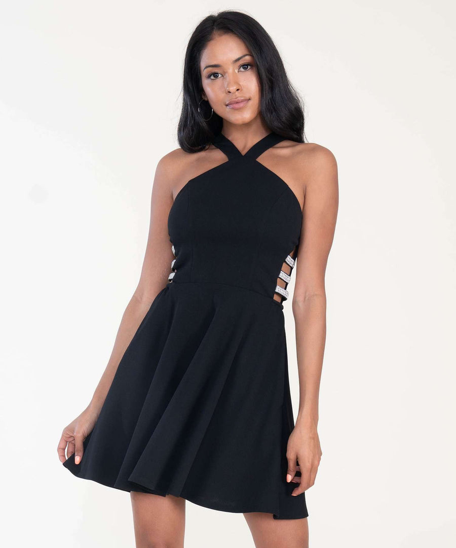 Charmed Skater Dress-Dressy Dresses-0-Black-Speechless