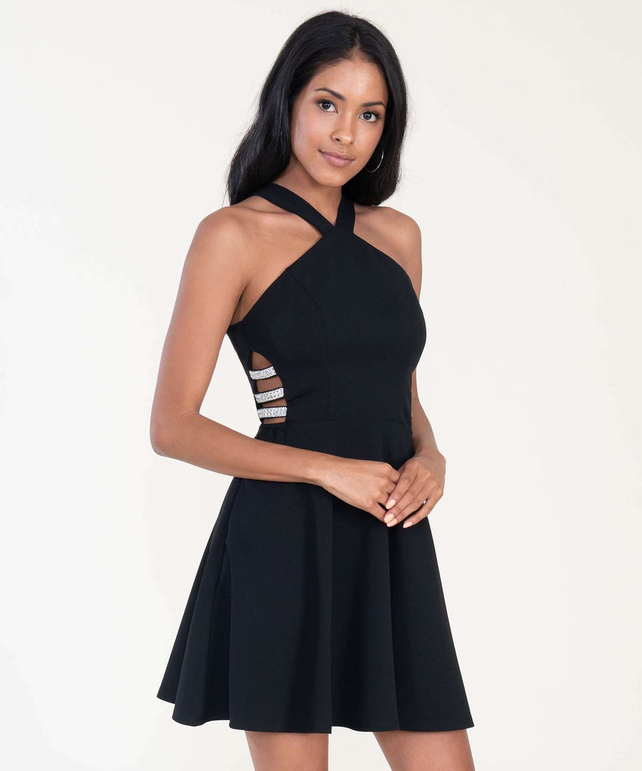 Charmed Skater Dress-Dressy Dresses-Speechless