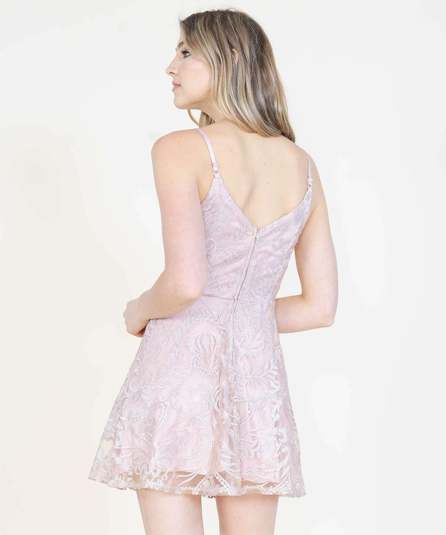 Ella Embroidered Skater Dress-Formal Dress-Speechless