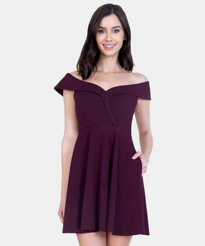 Bella Sweetheart Skater Dress-Dressy Dresses-Speechless