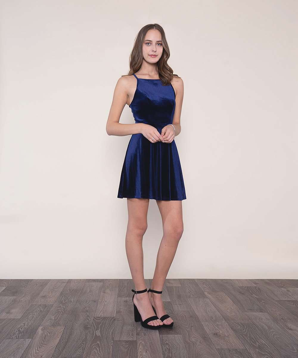 Holiday Nights Velvet Skater Dress – Speechless.com d2f7d891d