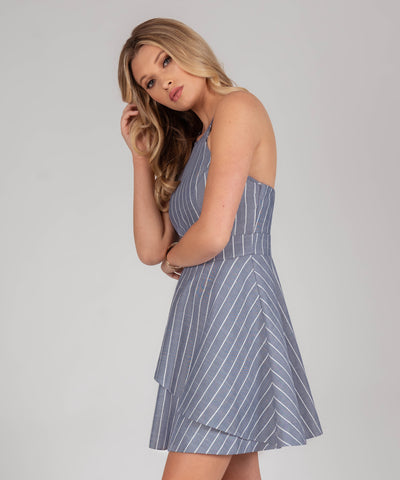 Leighton Stripe Layered Skater Dress - Image 2
