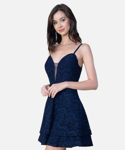 Falling For You Lace Layered Skater Dress