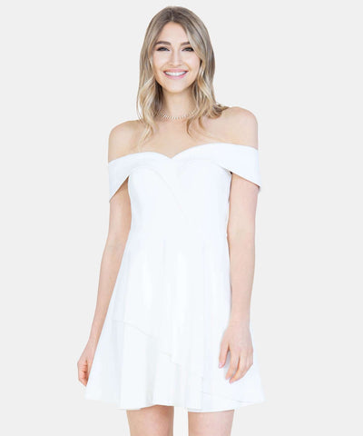 Ruffled Up Off The Shoulder Dress