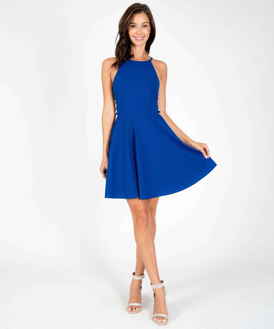 Moonstruck Skater Dress-Dressy Dresses-0-Royal Blue-Speechless.com