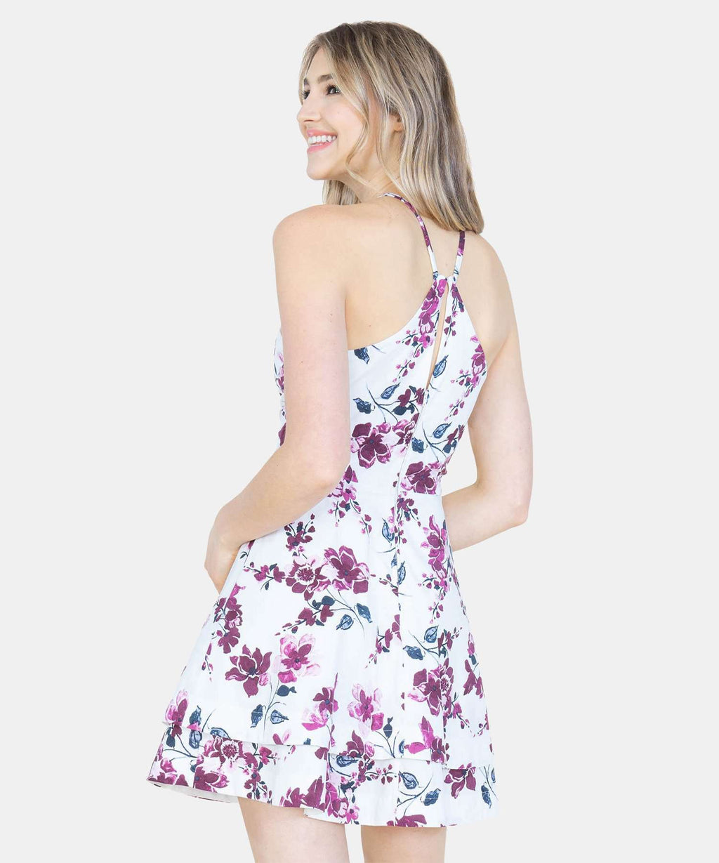 Floral Layered Skater Dress