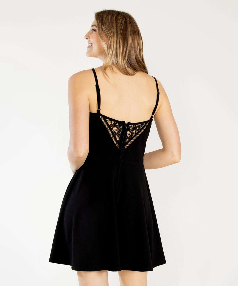 Later Skater Lace Dress-Speechless