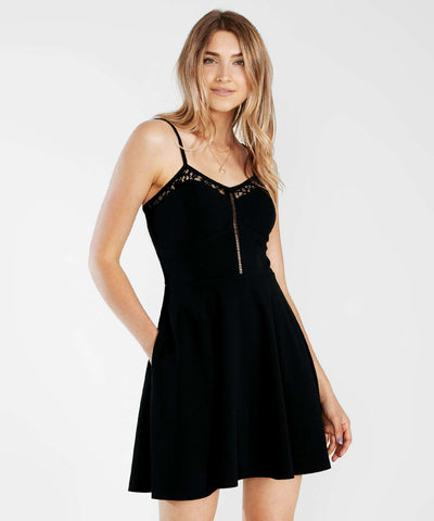 Later Skater Lace Dress-Casual Dresses-Speechless