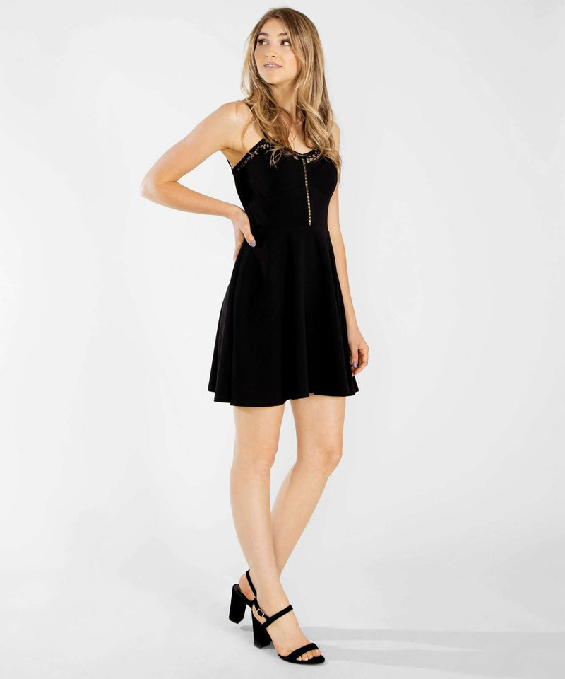 Later Skater Lace Dress