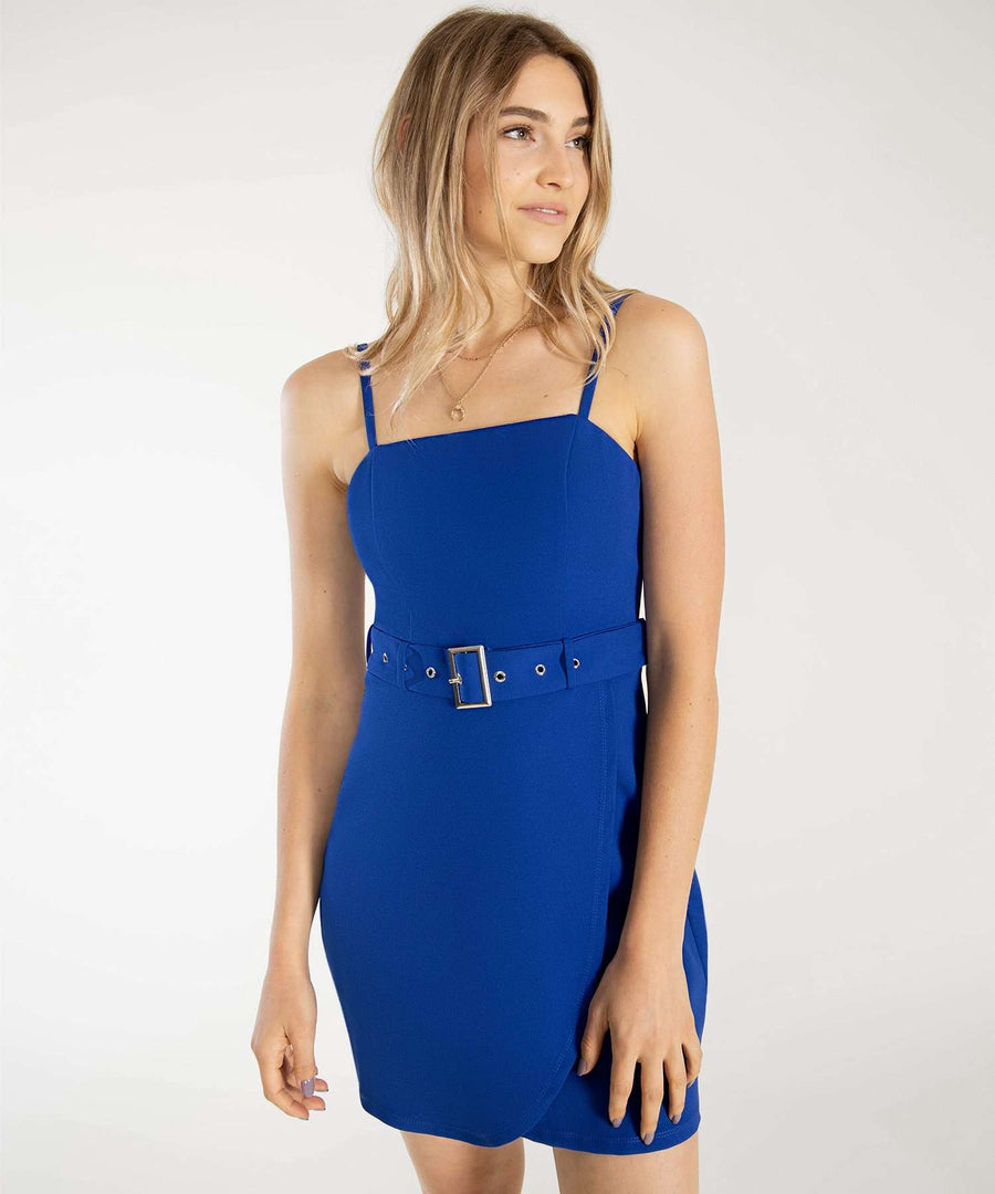 Go Go Belted Wrap Dress-Casual Dresses-0-Royal Blue-Speechless