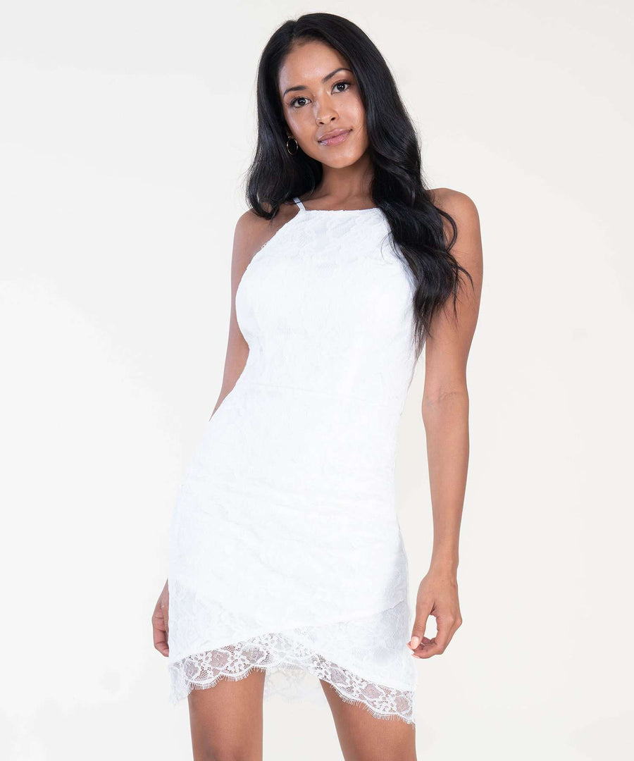 Paige Lace Slim Dress-Dressy Dresses-Speechless