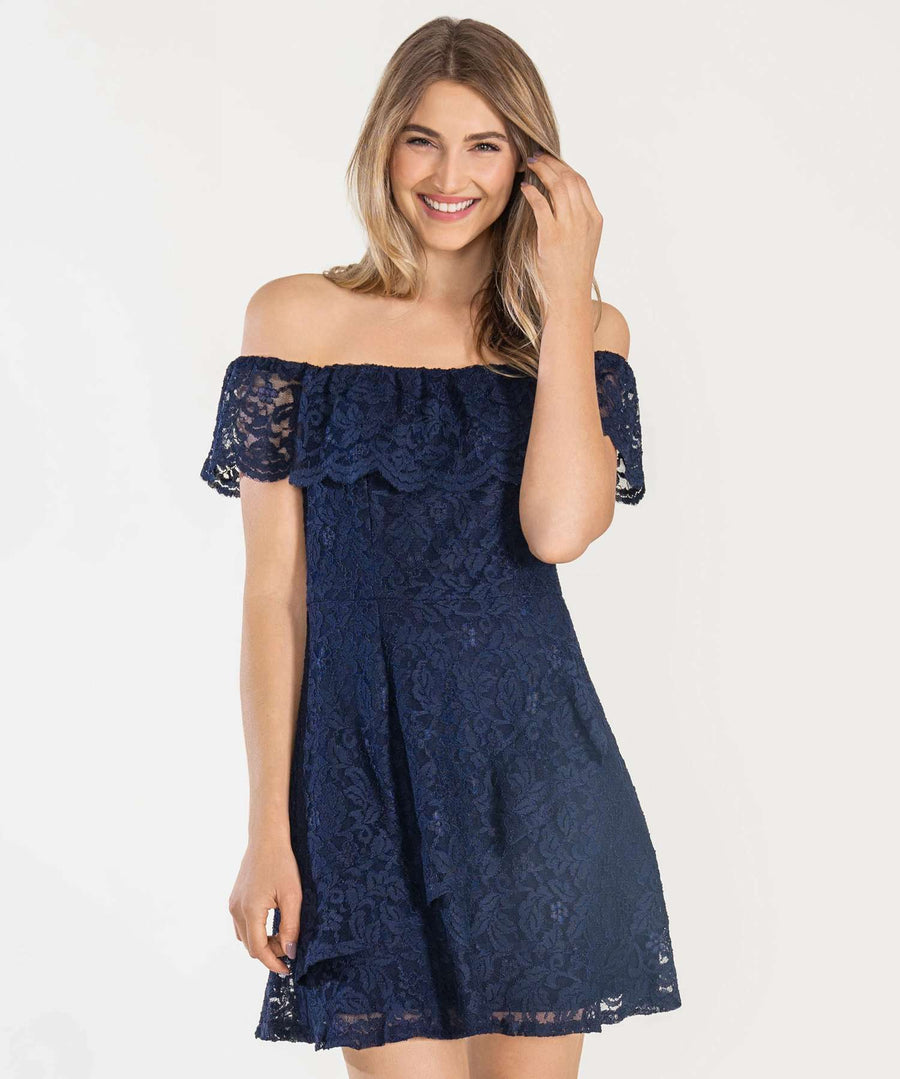 Midnight Dreamer Lace Dress-Casual Dresses-0-Midnight-Speechless