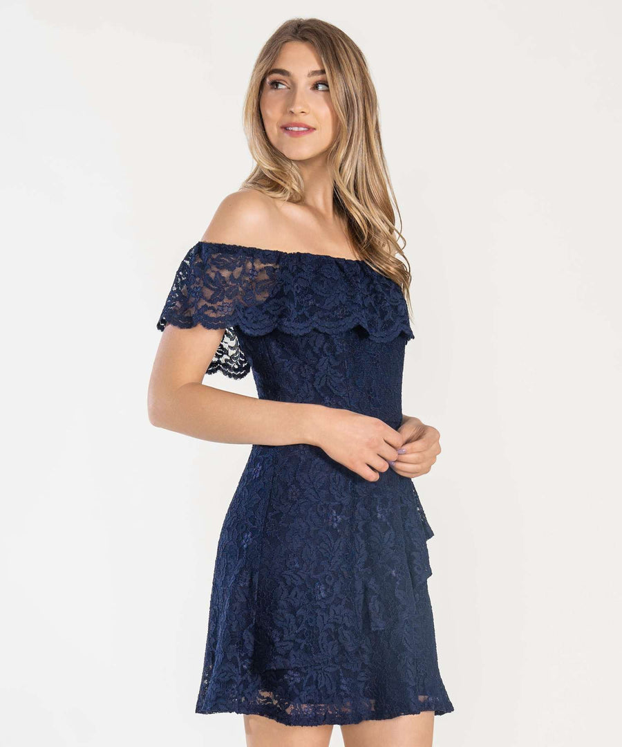 Midnight Dreamer Lace Dress-Casual Dresses-Speechless