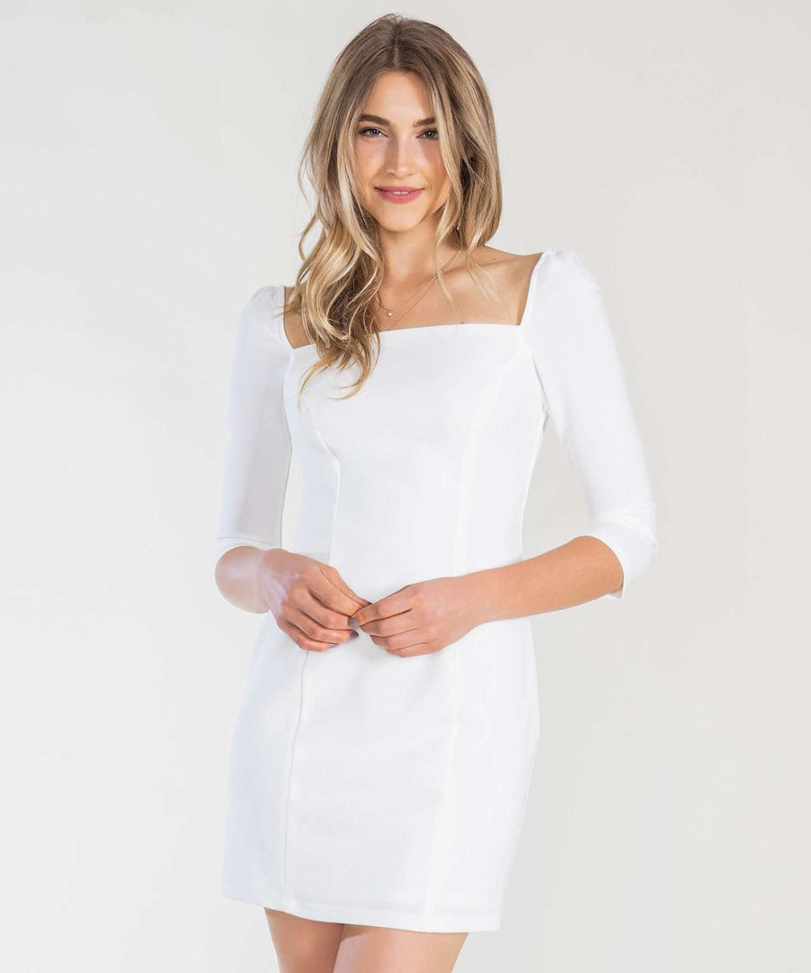 You And Me Bodycon Dress-Dressy Dresses-0-Ivory-Speechless
